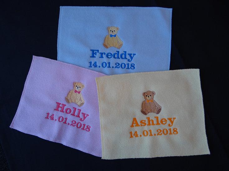 Personalised Embroidered Babies Blanket