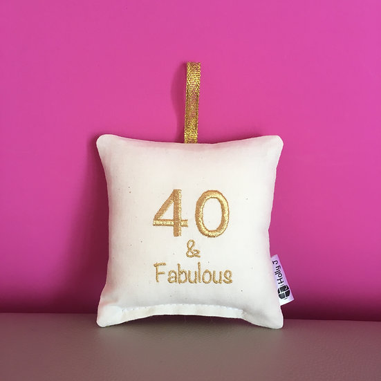 '40 & Fabulous' Mini Hanging Cushion