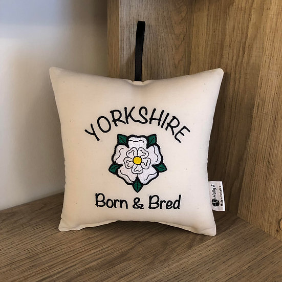 'Yorkshire Born & Bred' Hanging Cushion