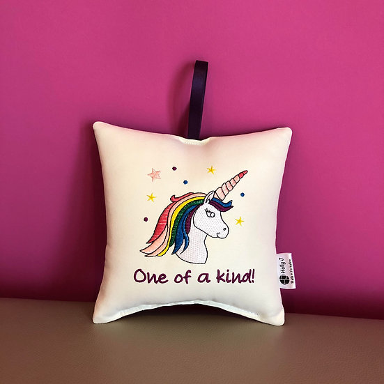 'One of a Kind!' Unicorn Hanging Cushion
