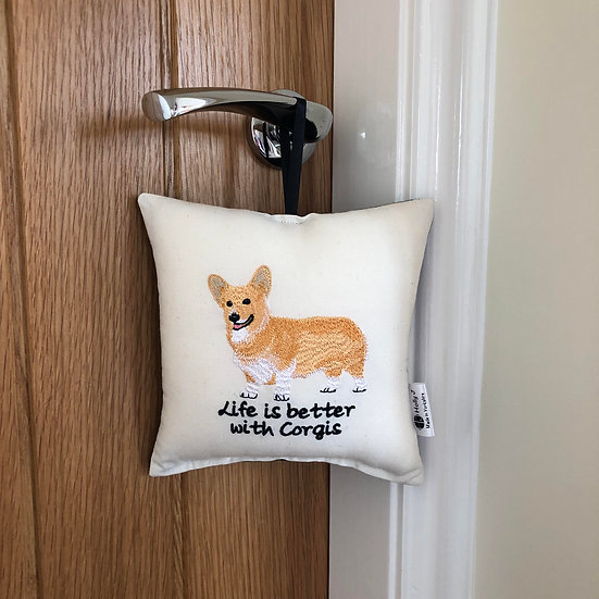 'Life is better with Corgis' Hanging Cushion