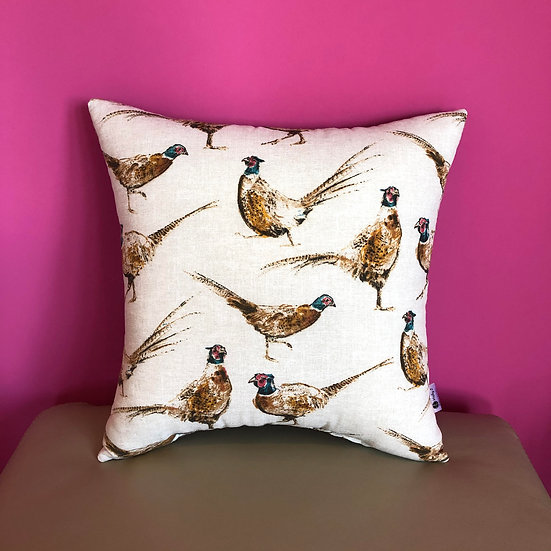 Pheasants Cushion