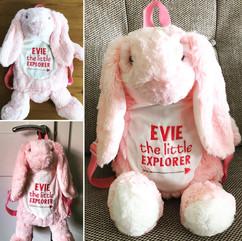 Evie the little Explorer Bunny Backpack