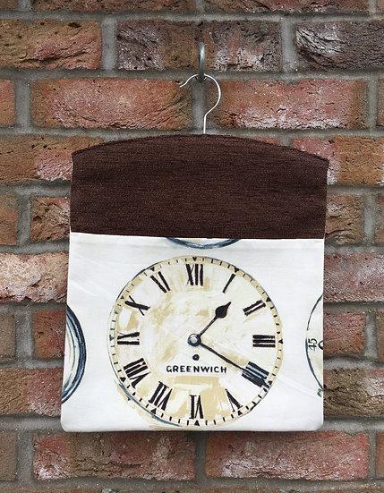 Clocks Peg Bag