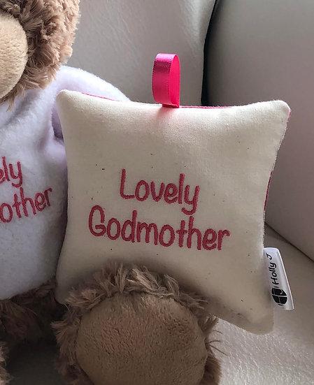 'Lovely Godmother' Mini Hanging Cushion
