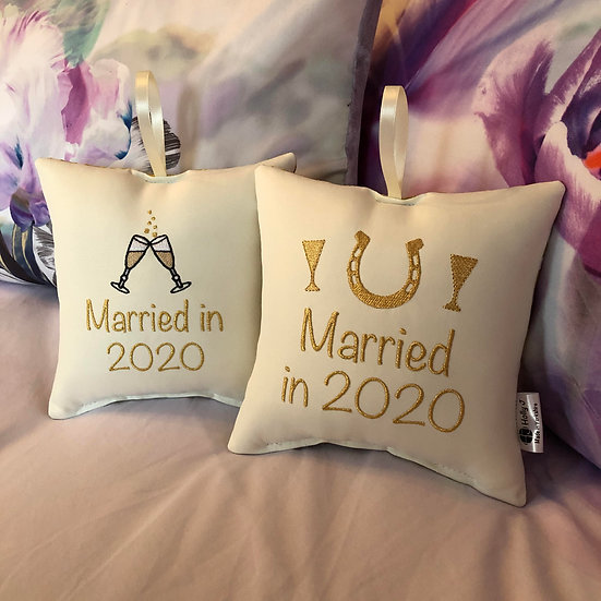 'Married in 2020' Hanging Cushion