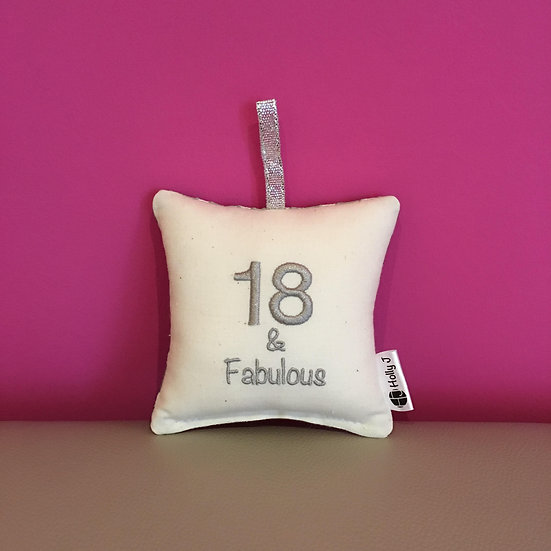 '18 & Fabulous' Mini Hanging Cushion