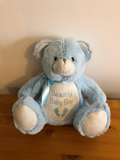 'Beautiful Baby Boy' Teddy Bear