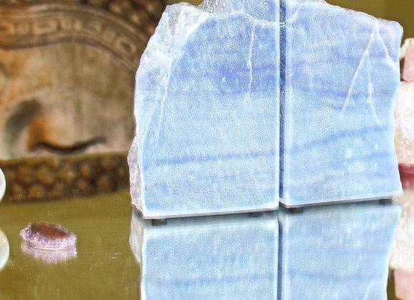Blue Quartz Bookends