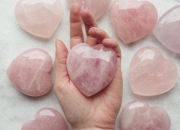 Large Rose Quartz Heart Chakra Healing