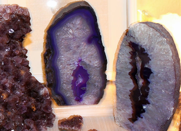 Purple Geode Lamp