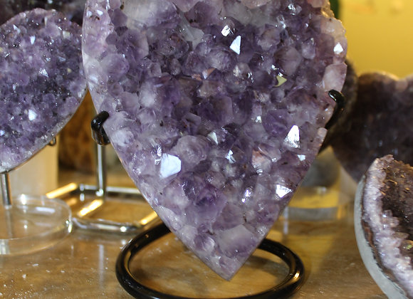 Amethyst Heart Stand