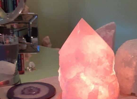 Rose Quartz Point Lamp
