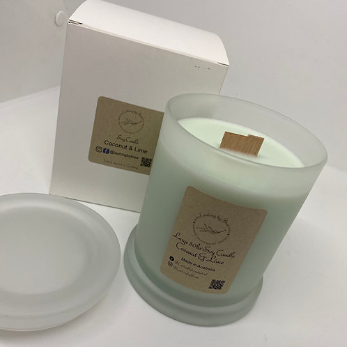 LARGE 50 HOUR BURNING CANDLE - COCONUT & LIME