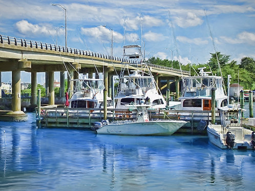 Boats at Rudee Bridge