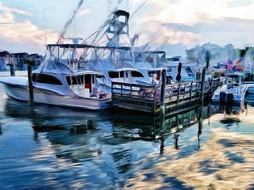 Boats at Rudee Inlet