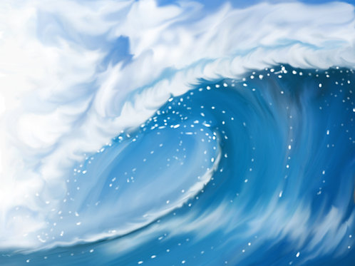 Blue Wave Crash