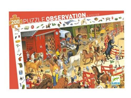 Djeco Puzzle observation équitation