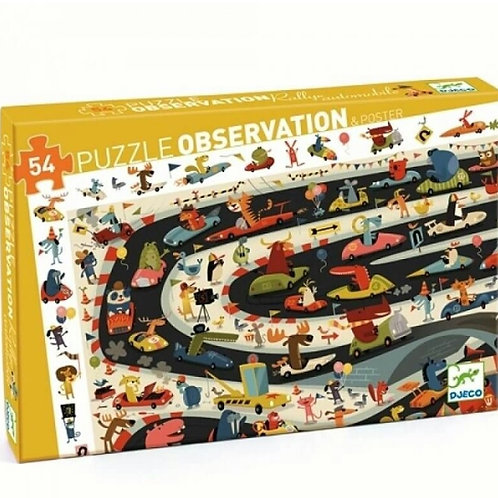 Puzzle observation Rallye automobile Djeco