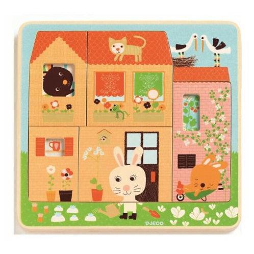 Djeco Puzzle Chez Carot