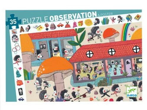 Djeco Puzzle observation L'école des hérissons