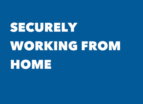 Securely working from home