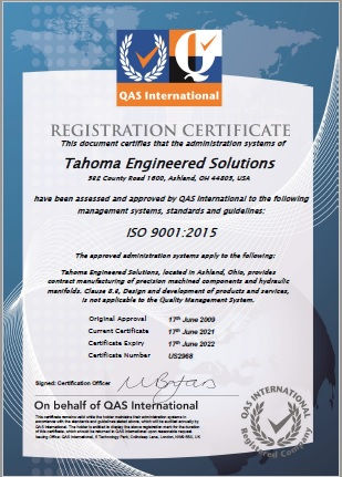 Tahoma Engineered Solutions Completed ISO 9001 2015 Recertification.jpg