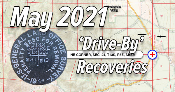 May 2021 'Drive-By' Survey Marks