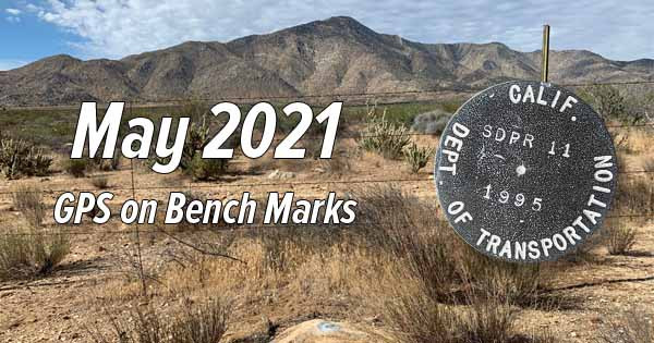 GPS on Bench Marks - May 2021