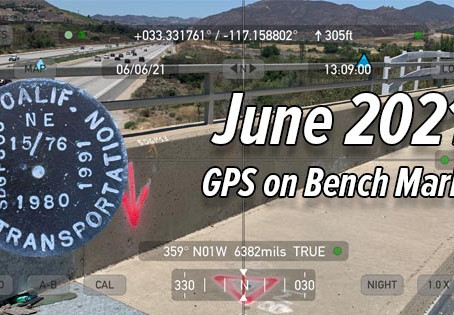 GPS on Bench Marks - June 2021