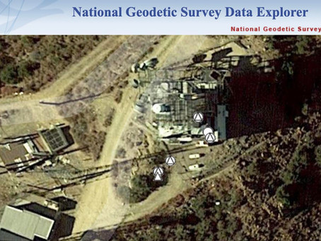 Santiago Peak Survey Marks