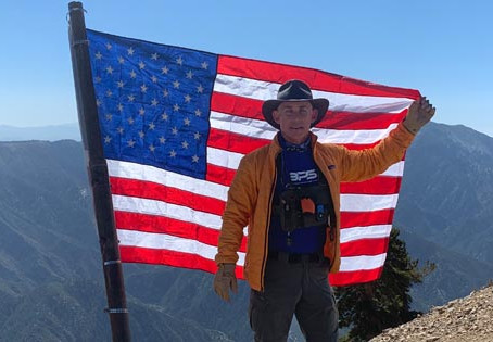 Stars and Stripes on Mt. Baden-Powell