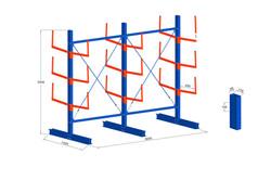Cantilever simple avec bras 60 cm