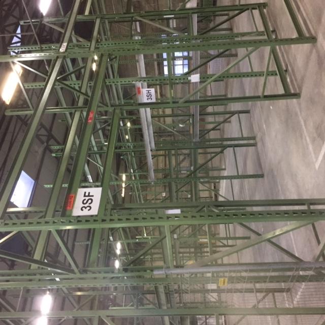 Rack à palettes vert 2m-6m haut