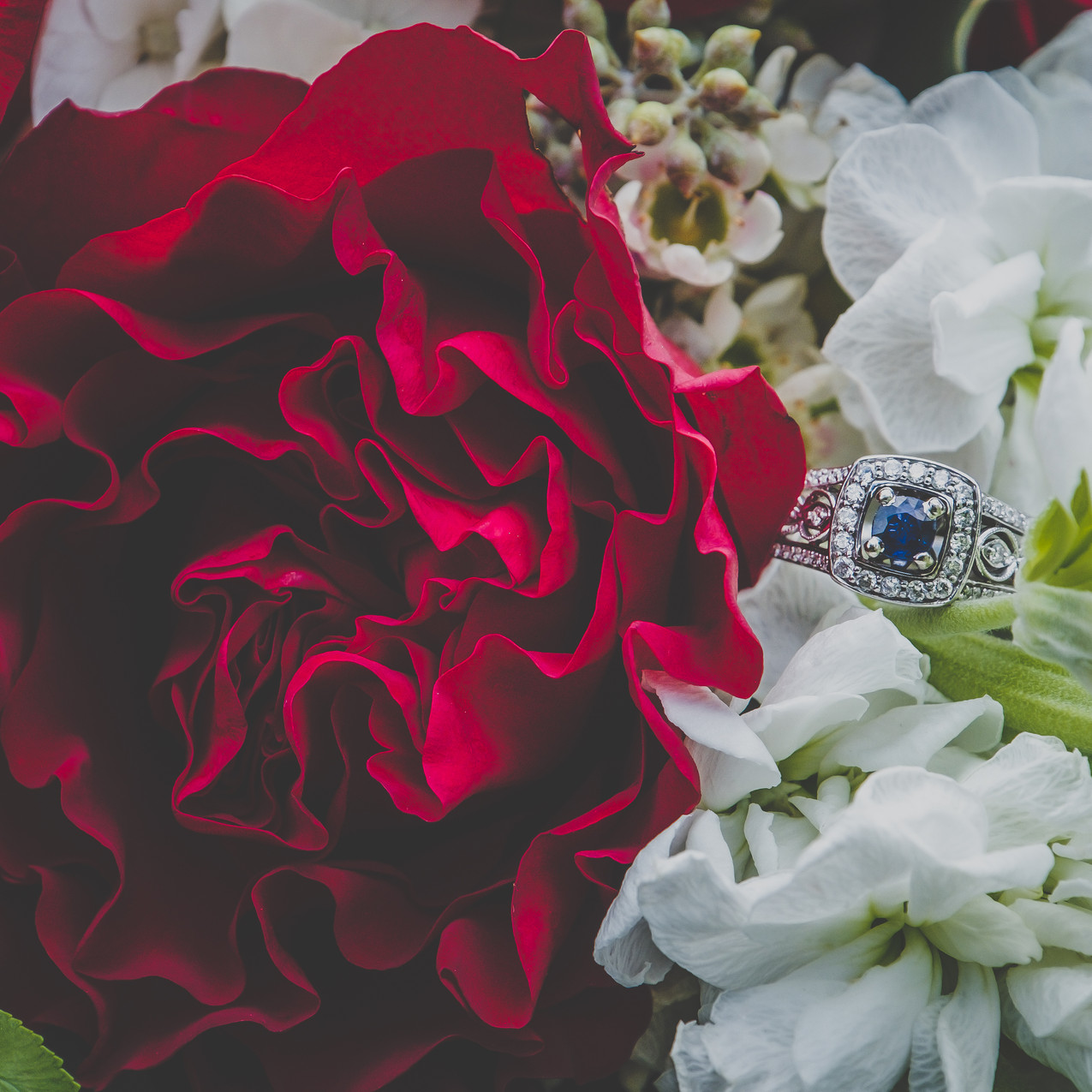 Wedding Ring in Bouquet by Just Judy's