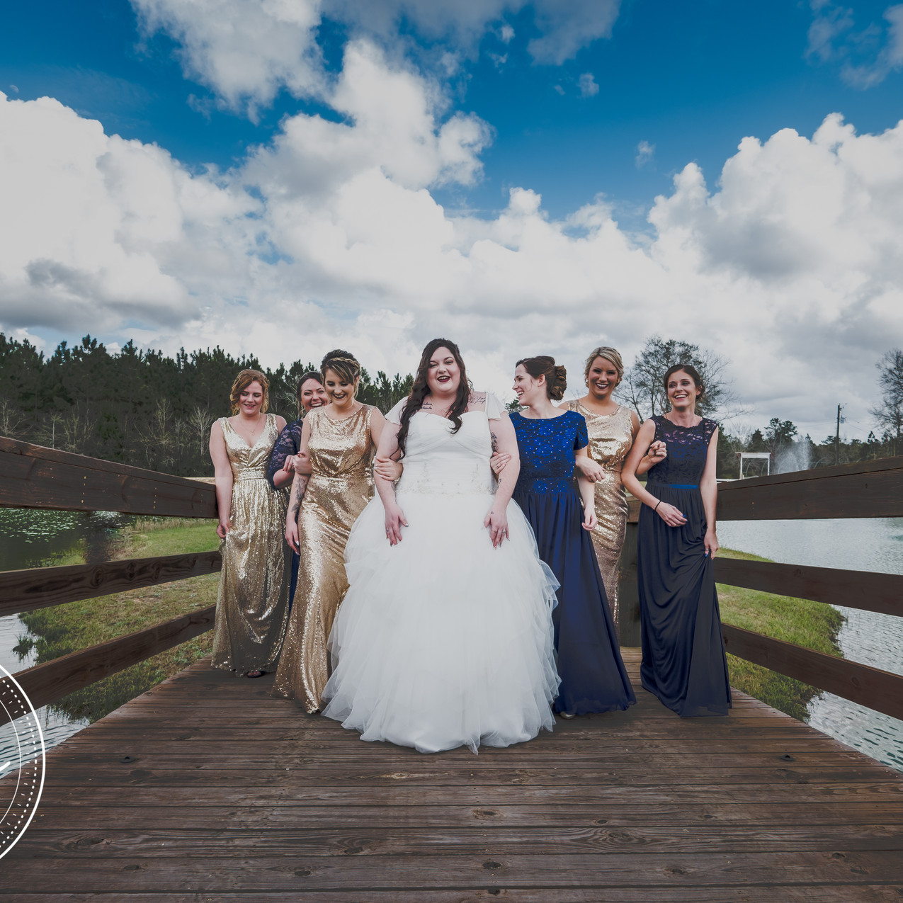 Bridal party at Sowell Farms