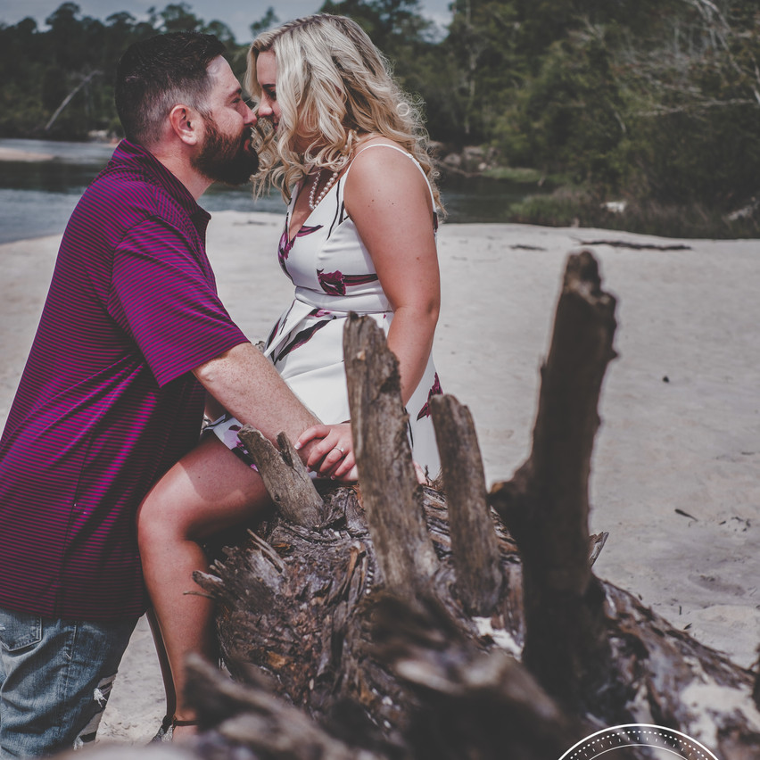 Couple Kissing at Blackwater State Park