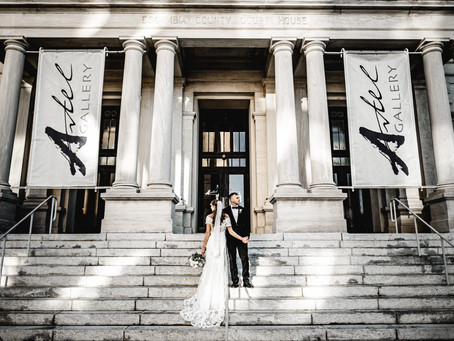 Brittany + Justin's Downtown Pensacola Elopement