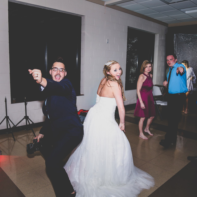 Me dancing with the bride