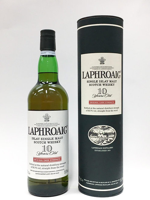 Laphroaig 10yo Cask Strength (red stripe, 55.7%)