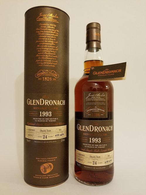 Glendronach 1993 Single Cask No. 401 for Nectar & La Maison du Whisky