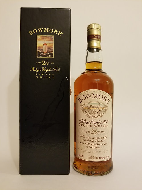 Bowmore 25 Years Old Seagull Label