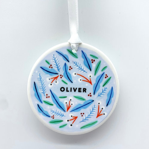 Personalised Blue Christmas Ornament
