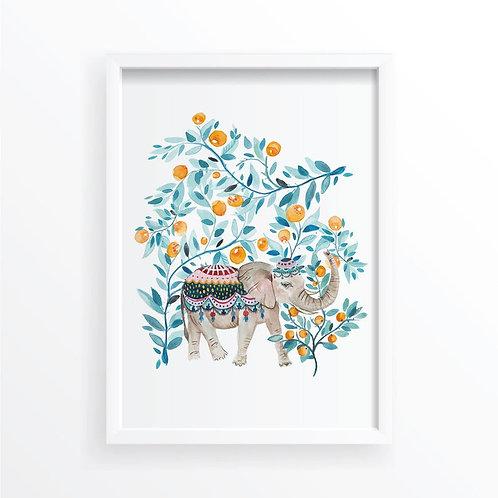 Orange Orchard Elephant