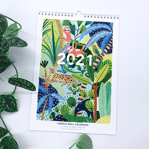 2021 Jungle Wall Calendar