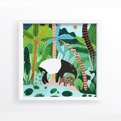 Jungle Malayan Tapirs