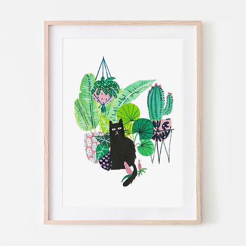 Black Plant Cat
