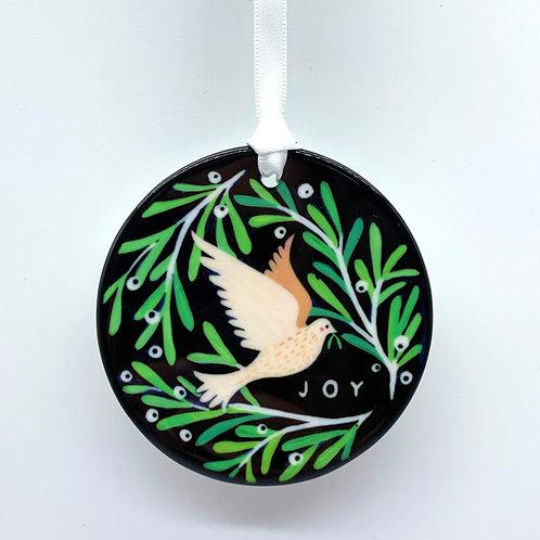 White Dove Christmas Ornament