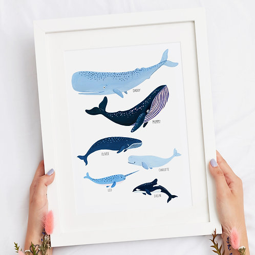 Personalised Family of Whales