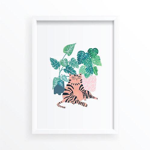 Striped Plant Cat